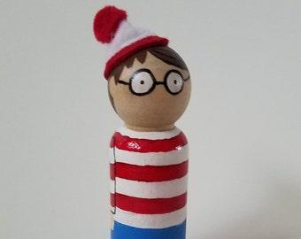 Where's Waldo Peg Doll