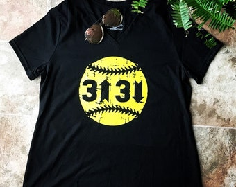 3 up 3 down softball shirt
