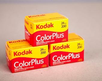 3 Rolls Kodak Color Plus 200. 35mm Negative Film (24 Exposure). 35mm film for color prints.