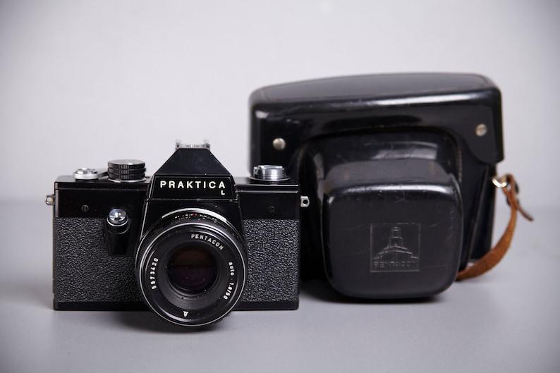 Praktica l black version vintage slr film camera