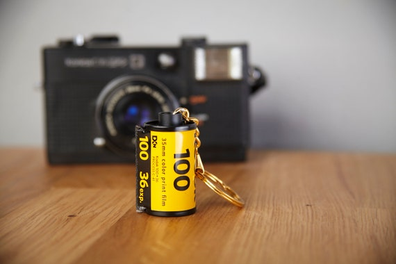 Photographer gift. Film Canister Key Chain Agfa 100 35mm film