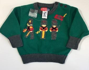 c9a11931d NOS Boy's Christmas Sweater - Vintage Holiday Sweater - 6-12 months -  Vintage Christmas Sweater - 12 Month Christmas - Vintage Gymboree