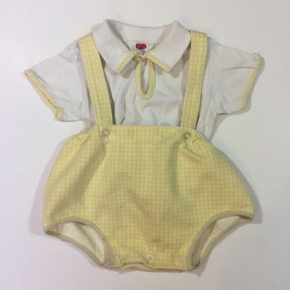 cb316d257a6a Baby Boy s Vintage Romper Outfit 3 6 9 months