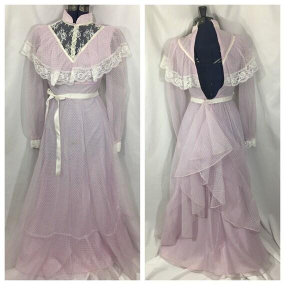 Women's Vintage Prairie Dress Small - Vintage Maxi