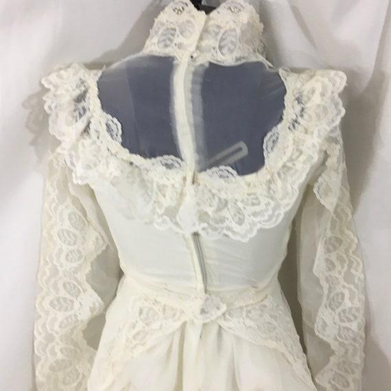 Vintage 70's Boho Wedding Gown - Small Vintage We… - image 7