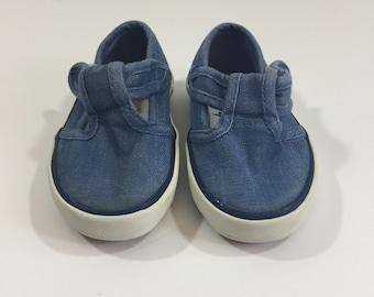 Jantzen Denim Mary Jane Shoes - Size 5 - Denim Shoes - Denim Mary Janes - Jantzen Shoes - Chambray - Size 5 Mary Janes - Baby Shoes