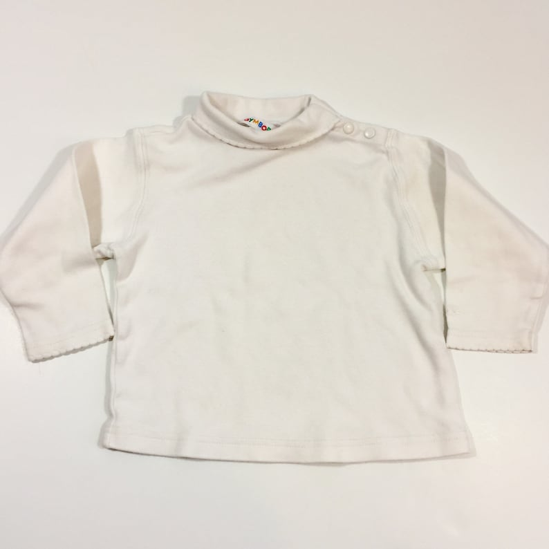 7322094e5 Baby Girl s White Turtleneck 18-24 Months Vintage
