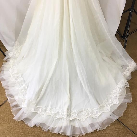 Vintage 70's Boho Wedding Gown - Small Vintage We… - image 2