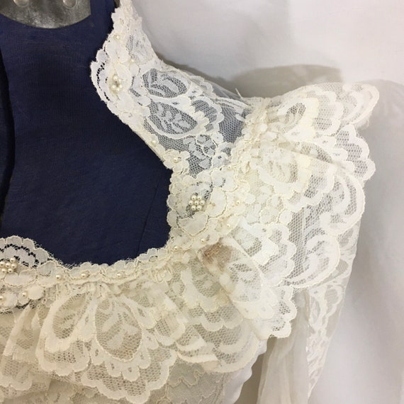 Vintage 70's Boho Wedding Gown - Small Vintage We… - image 10