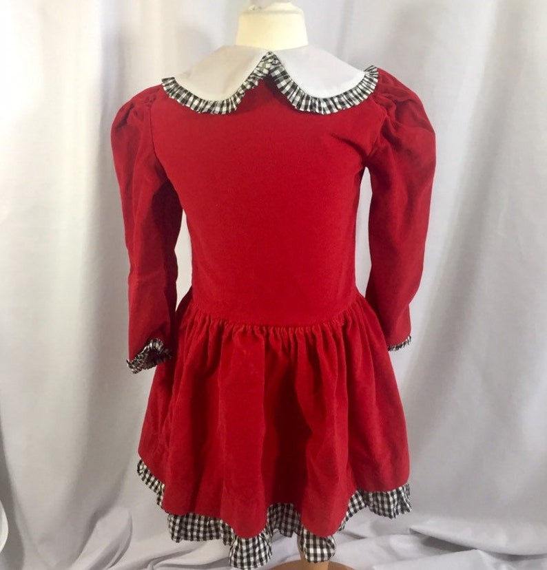 2db66fcd64a10 Girl's Vintage Christmas Dress Size 5 Dress Vintage | Etsy