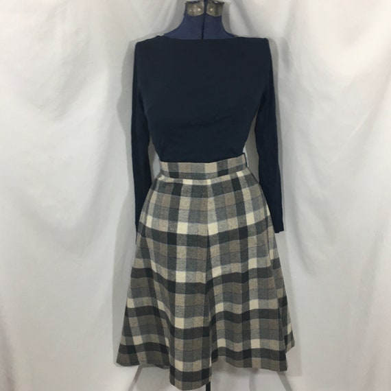 Women's Vintage Plaid Midi Skirt Large - Vintage M