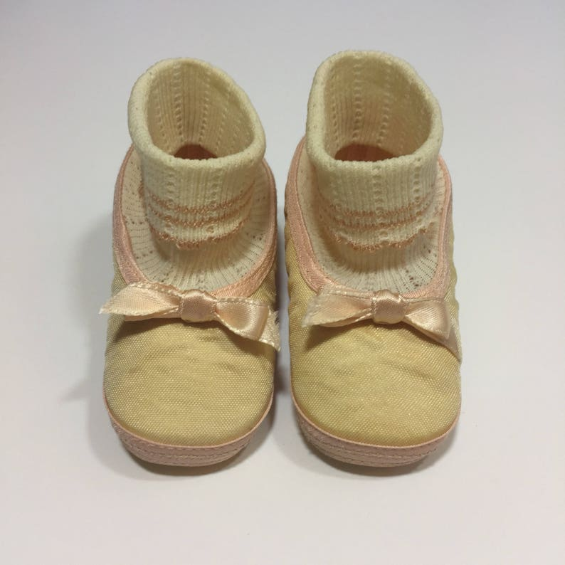 99911f271bbda Vintage Baby Shoes - Size 1 - 50's Baby Shoes - Baby Girl Shoes - Vintage  Crib Shoes - 50's Crib Shoes - Baby Ballet Flats