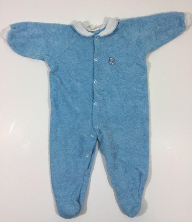 2e7c50ff043b Boys Vintage Footie Pajamas size 12 months Vintage Sleeper