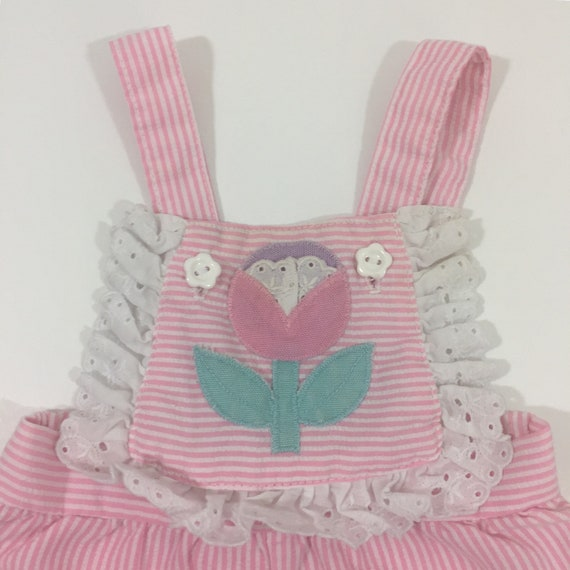 Vintage Baby Girl's Overalls - 3 Month Vintage - … - image 2