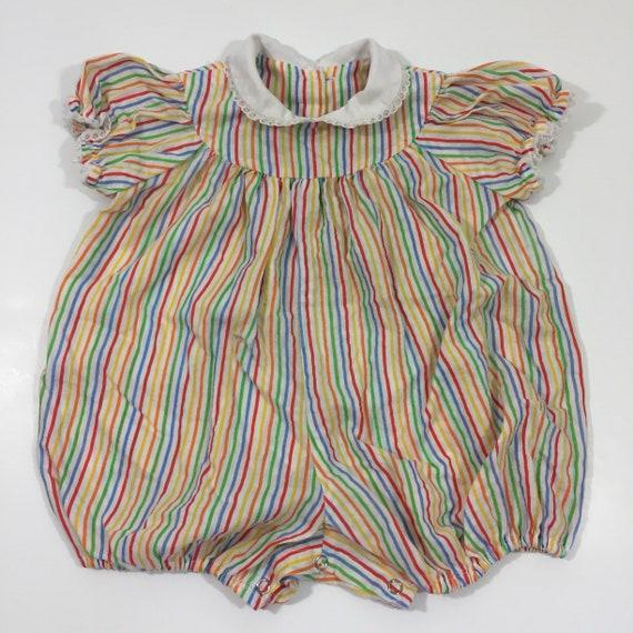 1236abea71b9 Girl s Vintage Romper 12 Months 18 Months Striped