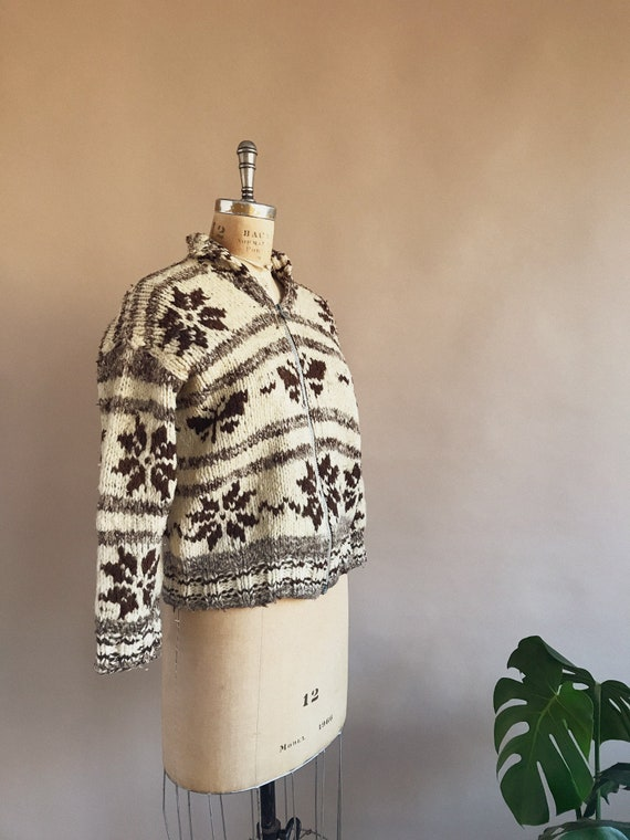 Vintage 1930s/40s Butterfly Cowichan Sweater - 30… - image 4