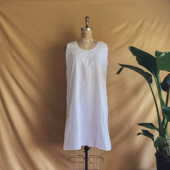 Antique White Cotton Night Dress - Antique Cotton