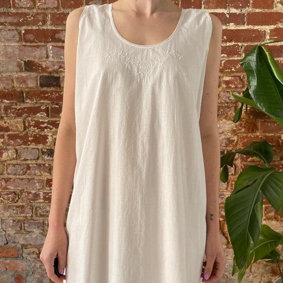 Antique White Cotton Night Dress - Antique Cotton… - image 5