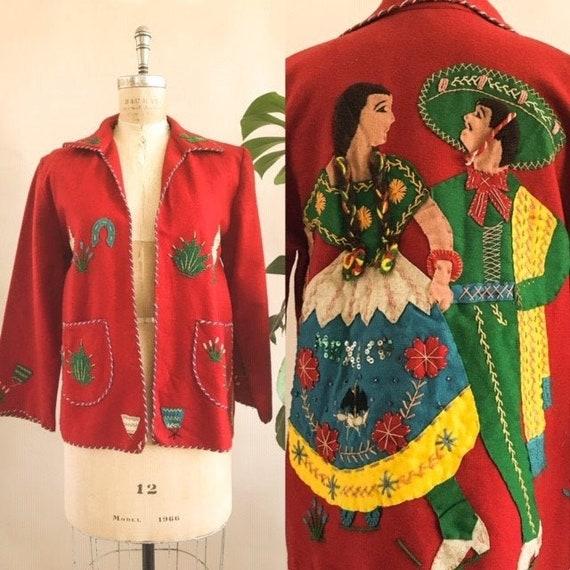 Vintage 1940s/ 1950s Mexican Souvenir Jacket - 40s