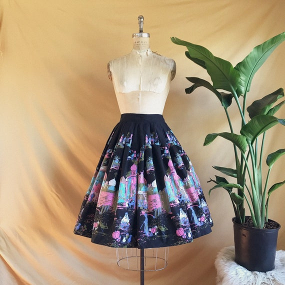 Vintage 1950s Millworth Casbah Circle Skirt - 50s