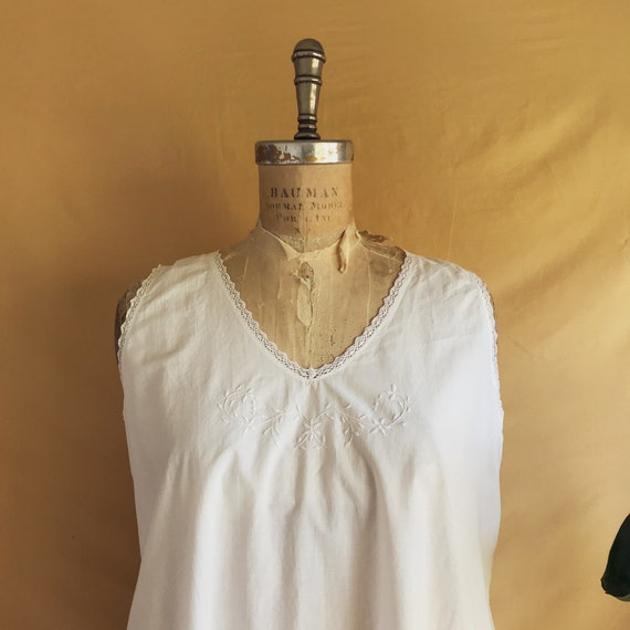 Antique White Cotton Night Dress - Antique Cotton… - image 3