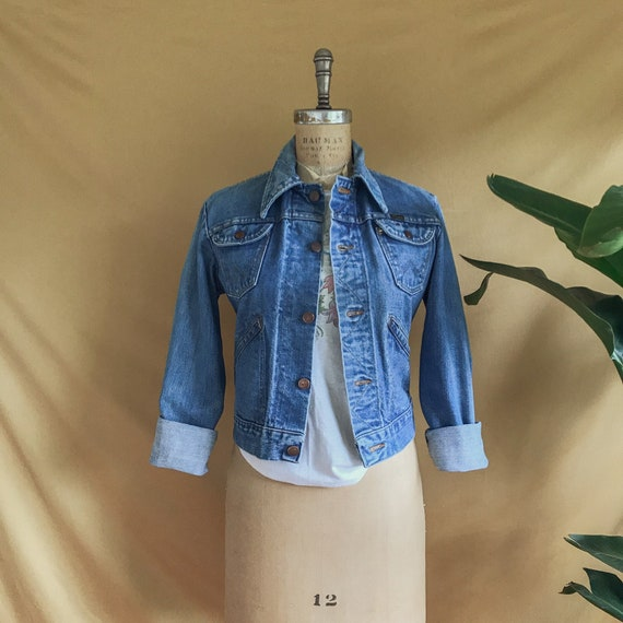 Vintage 1970s Wrangler Medium Wash Denim Jacket -