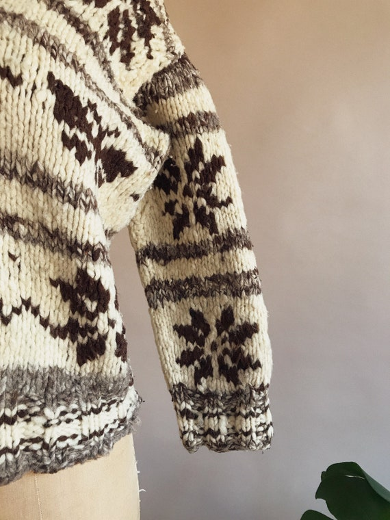 Vintage 1930s/40s Butterfly Cowichan Sweater - 30… - image 7