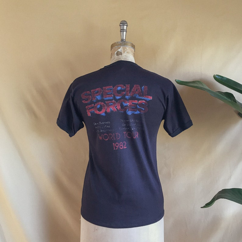 Vintage 1982 1983 38 Special Special Forces World Tour Ringer T-Shirt Single Stitch 82 83 38 Special Tee S Mens M Women
