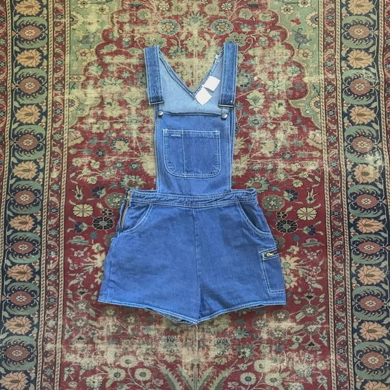 Vintage 1970s You Babes Medium Wash Denim Overalls