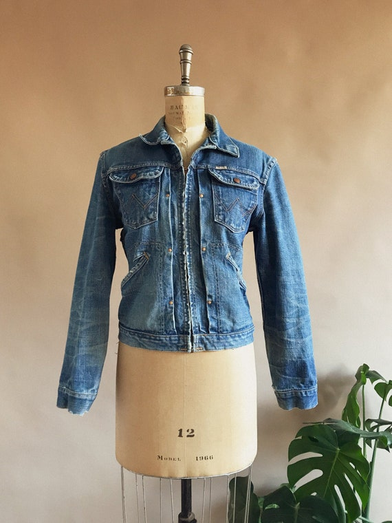 Vintage 1960s Sanforized Wrangler Denim Jacket - 6