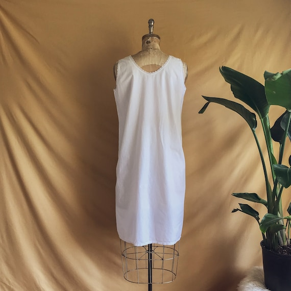 Antique White Cotton Night Dress - Antique Cotton… - image 6