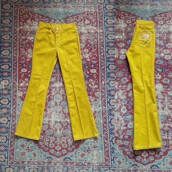 Vintage 1960s Misses Wrangler Mustard Yellow Kick