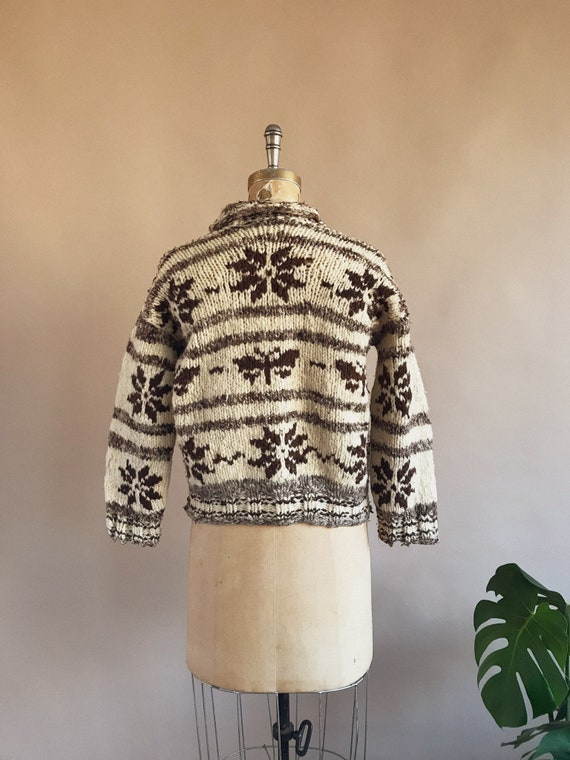 Vintage 1930s/40s Butterfly Cowichan Sweater - 30… - image 5