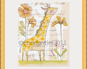 YELLOW 9x14,11x14, or 12x12 Colorful Picture Frame for Cori Dantini Prints. FRAME ONLY