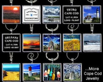 Cape Cod Pendant - Cape Cod Wine Glass Charm - Cape Cod Ornament - Cape Cod Jewelry - Cape Cod Necklace - Cape Cod Charm - (CDCOL2)