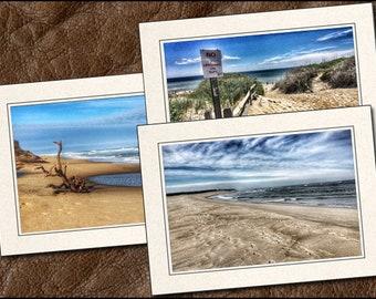 3 Cape Cod Photo Greeting Cards Handmade Set - Blank Greeting Cards With Envelopes - Photo Note Cards Handmade Set - 5x7 Cards - (BE10)