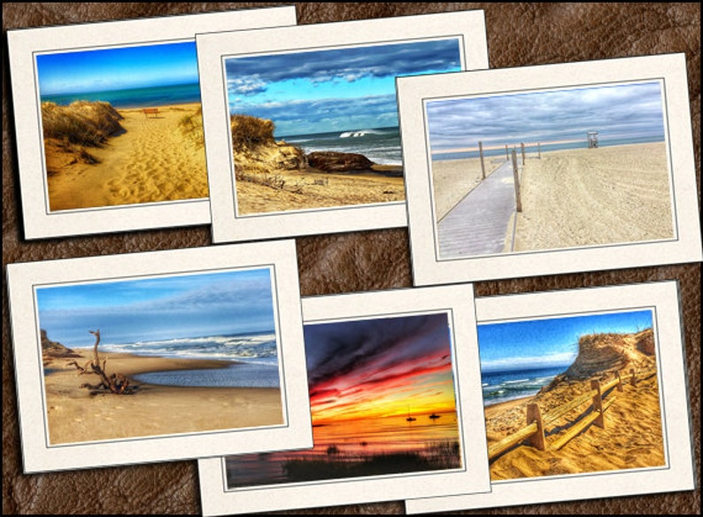 6 Cape Cod Photo Greeting Cards Set Photo Note Cards Handmade Set 5x7 Cape Cod Greeting Cards Handmade  GP542 Note Cards With Envelope