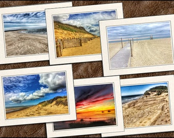 6 Cape Cod Photo Greeting Cards Handmade - Blank Greeting Cards With Envelopes - Photo Note Cards Handmade - 5x7 Cape Cod Note Card - (GP86)