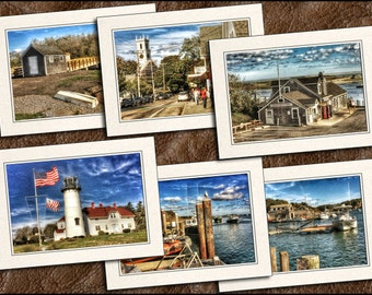 6 Chatham Note Cards - Photo Greeting Cards - Photo Note Cards - Cape Cod Card - Greeting Cards Handmade - Cape Cod - Cape Cod Gift - (GP83)