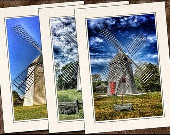 3 Cape Cod Photo Greeting Cards Handmade Set - Blank Greeting Cards With Envelopes - Photo Note Cards Handmade Set - 5x7 Cards - (WM1)