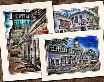 3 Provincetown Cards - Photo Note Cards Handmade - 5x7 Provincetown Note Cards - Cape Cod Card - Provincetown Greeting Card Handmade - (PR2)