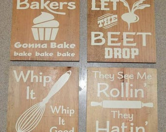 8x8 Fun Kitchen sign