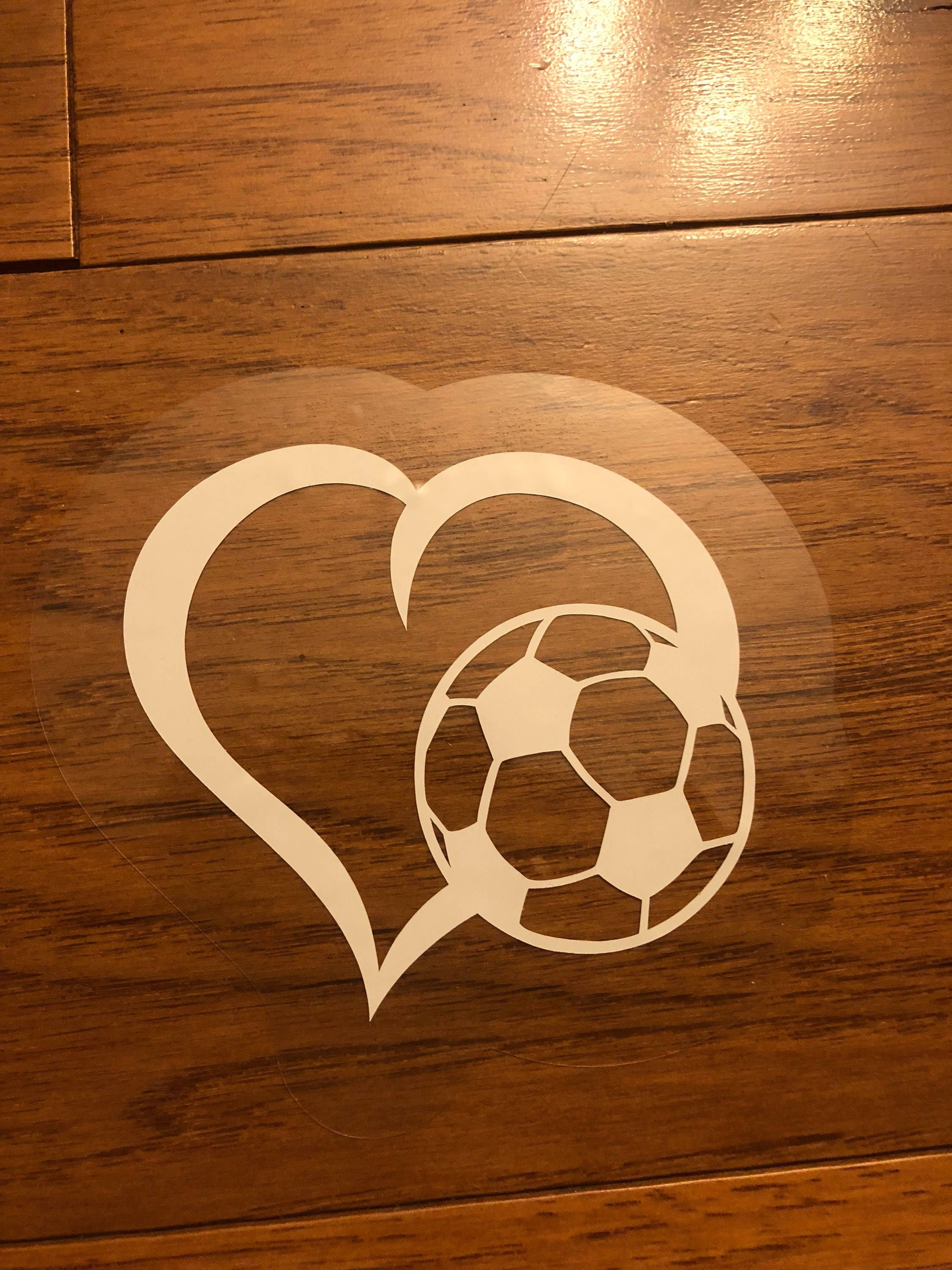 Custom decal window cling vinyl decal car window decal sport son daughter soccer removeable