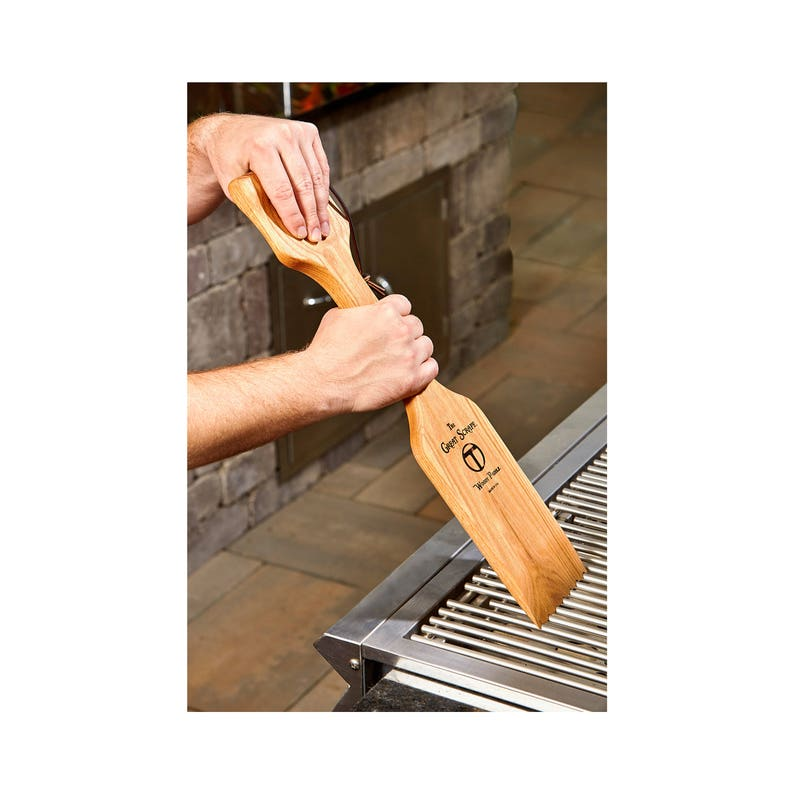 Great Scrape Woody Paddle  The Ultimate BBQ Cleaning Tool image 0