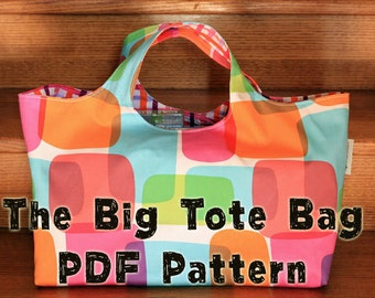 The Big Tote Bag PDF Sewing Pattern