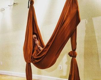 Cosmic Copper Aerial Yoga Hammock For Aerial (Unnata) Yoga Swing, & Inversion Therapy