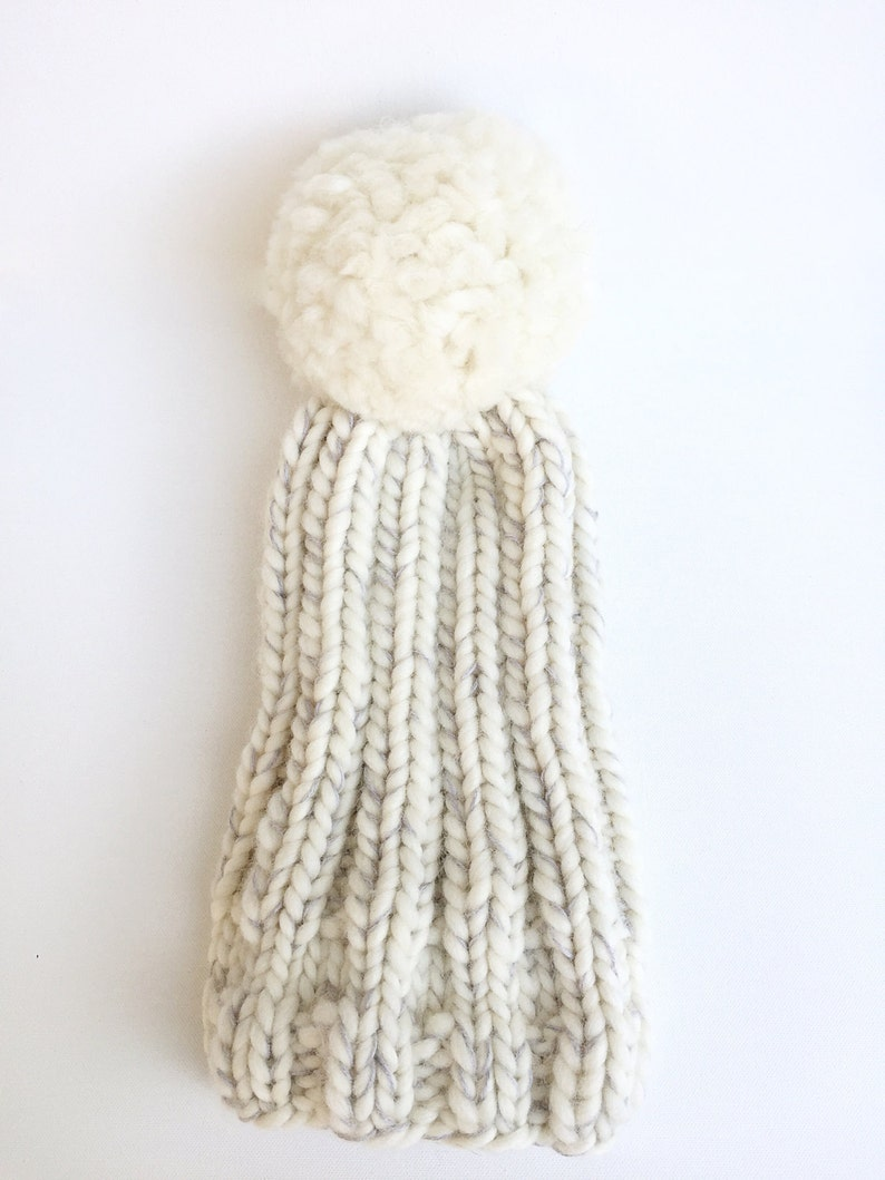 ecbfa57ef49 Charlee Cakes Chunky Puffball knit Hat chunky knit wool hat