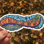 Let Nature Lead My Way Vinyl Decal Sticker
