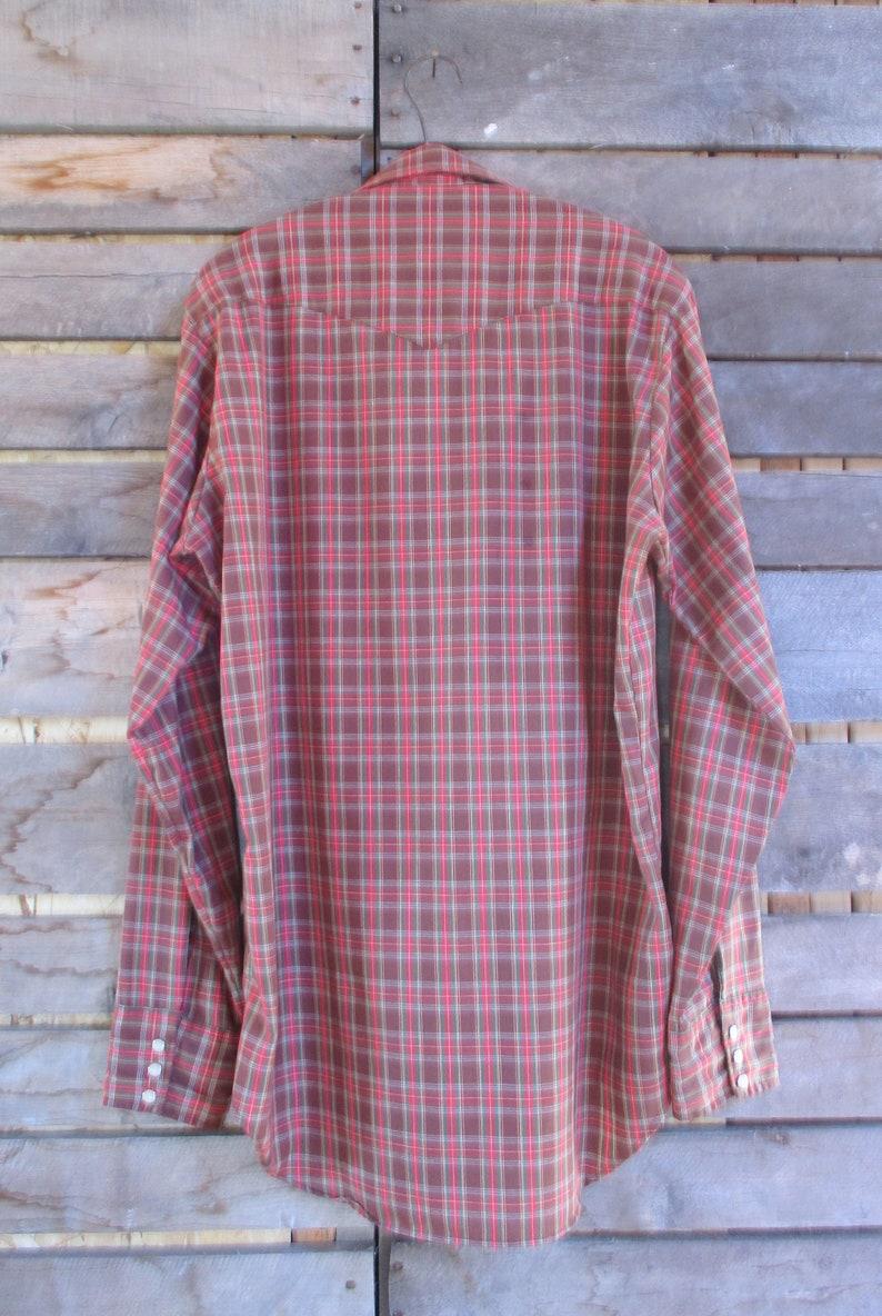 Tall Men/'s Western Pearl Snap Plaid Long Sleeve Shirt Vintage Rodeo Rockabilly Cowboy 16-L-16 12 Dee Cee Rangers Mr