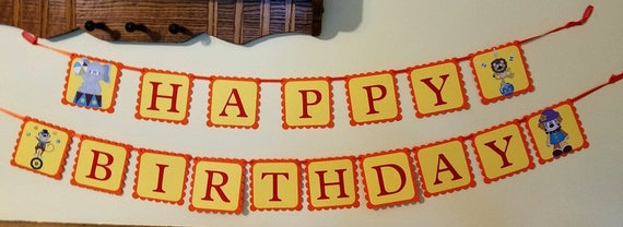 Circus Banner Welcome Sign Birthday Party Supplies